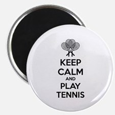 """Keep calm and play tennis 2.25"""" Magnet (10 pack)"""