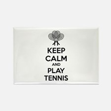 Keep calm and play tennis Rectangle Magnet