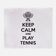 Keep calm and play tennis Throw Blanket
