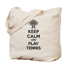 Keep calm and play tennis Tote Bag