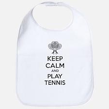 Keep calm and play tennis Bib