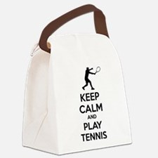Keep calm and play tennis Canvas Lunch Bag