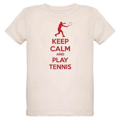 Keep calm and play tennis Organic Kids T-Shirt