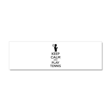Keep calm and play tennis Car Magnet 10 x 3
