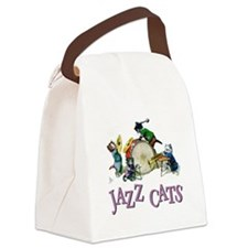 Jazz Cats Purple.png Canvas Lunch Bag