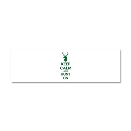 Keep calm and hunt on Car Magnet 10 x 3