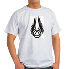 Up Wings Ash Grey T-Shirt