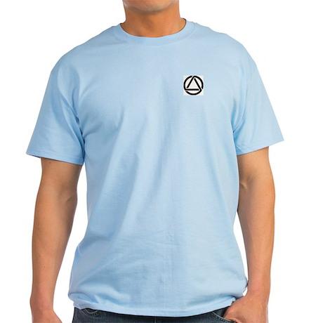 Ash Grey T-Shirt with Flame Aurora Design