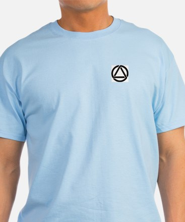 Ash Grey T-Shirt with Flame Aurora Design