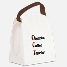 OCD-Obsessive Coffee Disorder Canvas Lunch Bag
