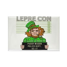 Funny Leprechaun Mugshot Rectangle Magnet (10 pack
