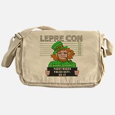 Funny Leprechaun Mugshot Messenger Bag