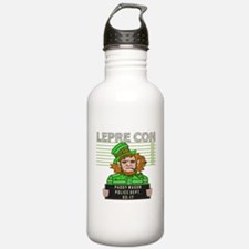Funny Leprechaun Mugshot Water Bottle