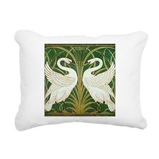 SWANS_GREEN.png Rectangular Canvas Pillow