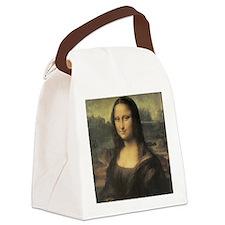 Vintage Mona Lisa Canvas Lunch Bag