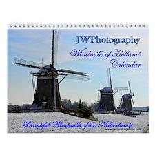 Windmills Of Holland Wall Calendar