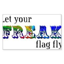 Freak Flag Rectangle Bumper Stickers