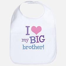 Love My Big Brother Bib