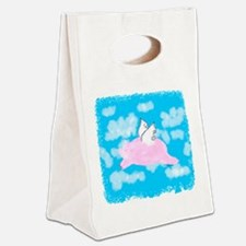 Flying Pig Canvas Lunch Tote