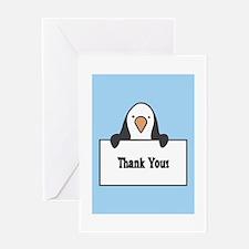penguinthankyoucard Greeting Cards