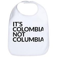 IT'S COLOMBIA NOT COLUMBIA Bib