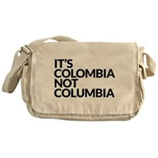 IT'S COLOMBIA NOT COLUMBIA Messenger Bag