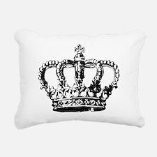 Black Crown Rectangular Canvas Pillow