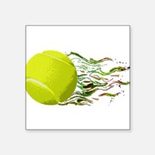 Tennis Ball Flames Artistic US Open Wimbleton Stic