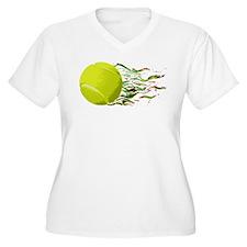Tennis Ball Flames Artistic US Open Wimbleton Plus