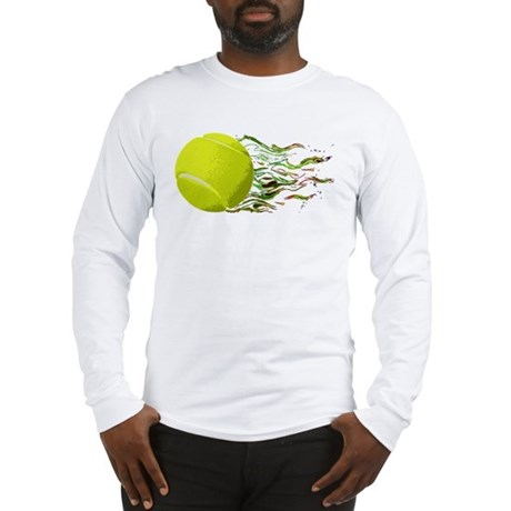 Tennis Ball Flames Artistic US Open Wimbleton Long