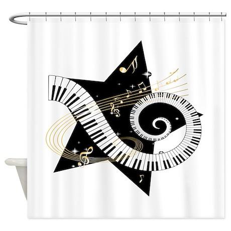 Musical Star Shower Curtain