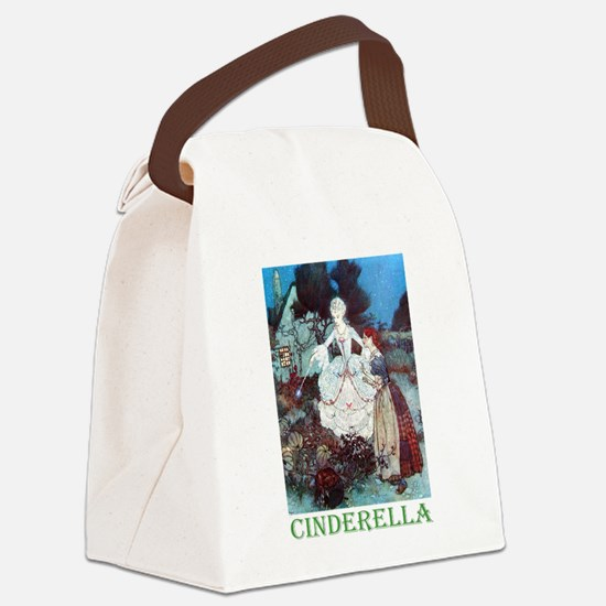 CINDERELLA_GREEN.png Canvas Lunch Bag