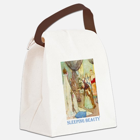 Sleeping Beauty_BLUE.png Canvas Lunch Bag
