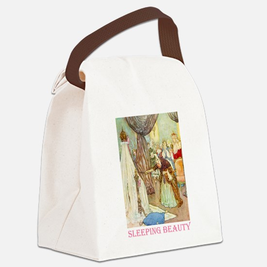 Sleeping Beauty_PINK.png Canvas Lunch Bag