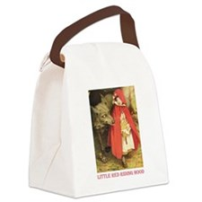 Little Red Riding Hood_red.png Canvas Lunch Bag