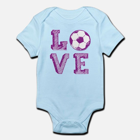 Girly Love Soccer Body Suit