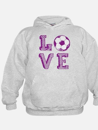 Girly Love Soccer Sweatshirt