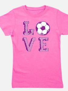 Girly Love Soccer T-Shirt