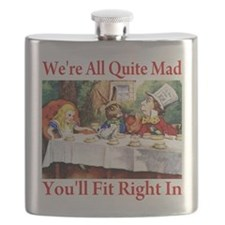 WE'RE ALL QUITE MAD Flask