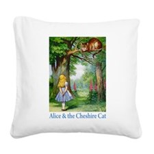 ALICE_CAT_14x10_words.png Square Canvas Pillow