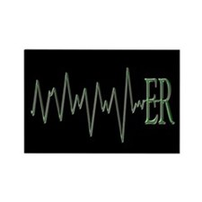 ER EKG Rectangle Magnet