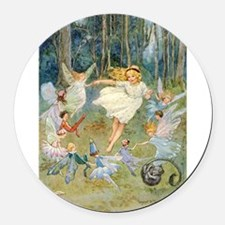 dancing in the fairy Round Car Magnet