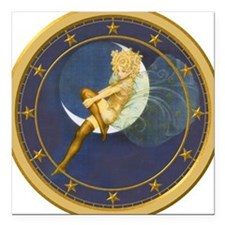 ! ONCE IN A BLUE MOON CLOCKx.png Square Car Magnet