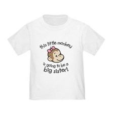 Big Sister to be - Monkey Face T-Shirt