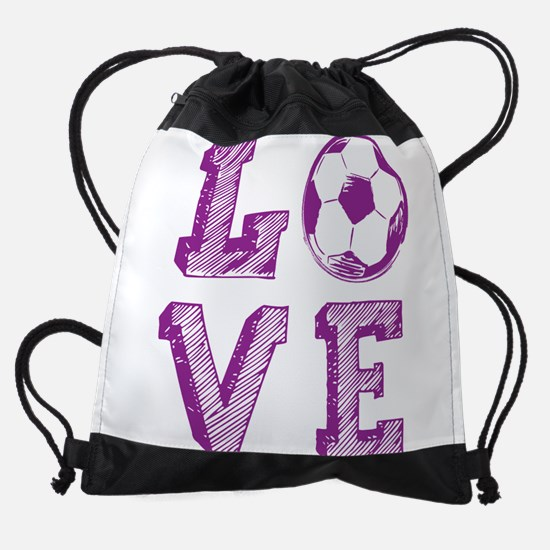 Girly Love Soccer Drawstring Bag