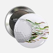 "Flaming Golf Ball Club PGA Masters 2.25"" Button"