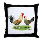 Norwegian Jaerhons Chickens Throw Pillow