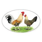 Norwegian Jaerhons Chickens Oval Sticker
