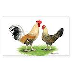 Norwegian Jaerhons Chickens Rectangle Sticker