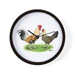Norwegian Jaerhons Chickens Wall Clock
